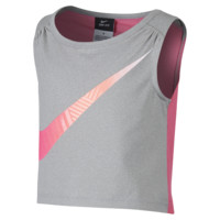 Nike Dri-FIT Sports Essentials Cropped Preschool Girls' Training Top Size 6X (Grey)