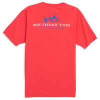 Rising Skipjack Tee in Fire Red by Southern Tide