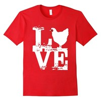 Love Chicken T Shirt Gift