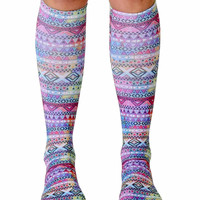 Tribal Knee High Socks