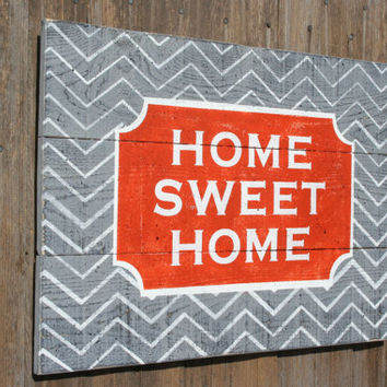 Home Sweet Home Pallet Sign Shabby Chic Decor Vintage Wood Decor Primitive Wood Decor Wood Wall Art Wall Hanging Housewarming Wedding Gift