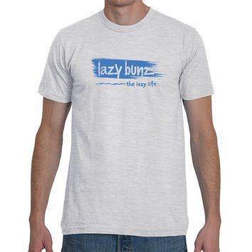 Blue Brush Stroke Logo Tee- By Lazy Bunz