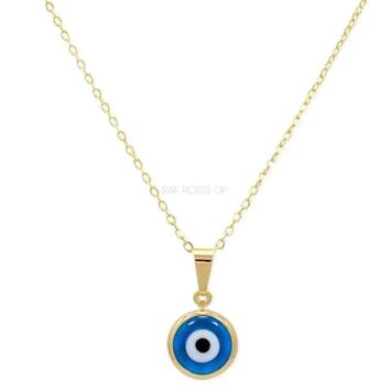 Evil Eye Charm - Necklace 18kts Gold Plated