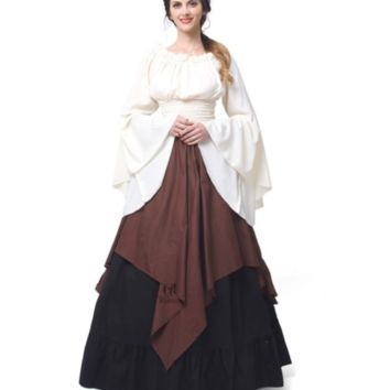 Romantic Medieval Renaissance Gothic Cosplay Retro Gown Dress