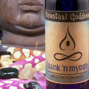 FRANK 'N MYRRH Meditation Mist Frankincense Myrrh Spray Incense - Set the Mood to Meditate