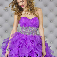 New Homecoming Short Prom Cocktail Mini Ball Gown Pageant Dresses stock size