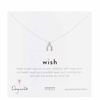 Dogeared Sterling Silver Wishbone Necklace