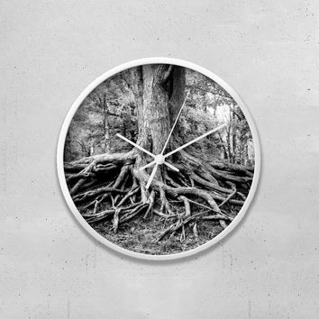 "Tree Roots 10"" Wall Clock"