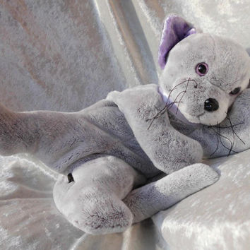 MADE-TO-ORDER ~ Luxury Cuddly Cat Bear - Quality ultrasoft Silver gray lavender floppy stuffed plush animal teddy puppy kitten Handmade Ooak