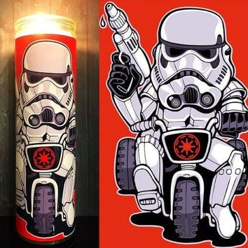 StormTrooper, The last Jedi, Star Wars Rogue One, Stormtrooper Helmet, Prayer Candle, Gift Idea, Gifts for Him, Best Scented Candles, Sith