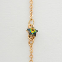 Gold Single Chain Star Necklace - Vitrail