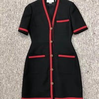 GUCCI V-neck Short sleeve Dress