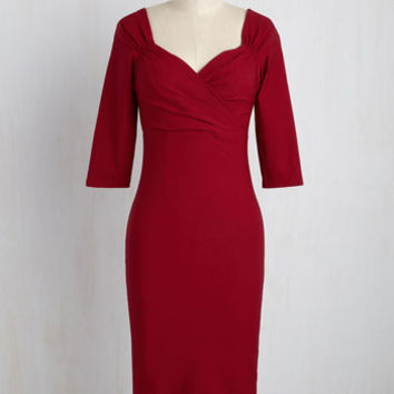 Love Ballad Beauty Dress in Scarlet | Mod Retro Vintage Dresses | ModCloth.com