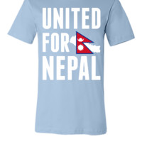 UNITED FOR NEPAL - Earthquake In Nepal - Unisex T-shirt