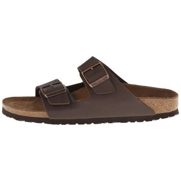 Birkenstock Women's Arizona Brown Birka-Flor Sandals (N)