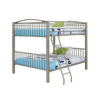 Powell  941-137 Heavy Metal Pewter Full Over Full Bunk Bed