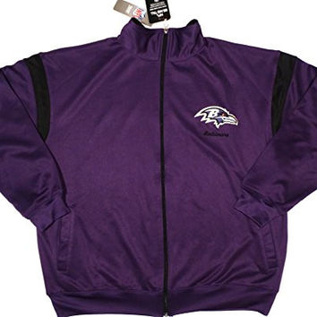 Baltimore Ravens Majestic Full Zip Track Jacket Big and Tall Size 2XL