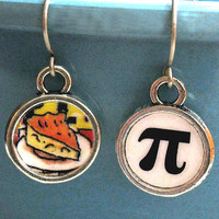 Pi Day Earrings Math Geek Pie Jewelry by ALikelyStory on Etsy