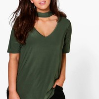 Plus Melody Slinky Open Neck Top | Boohoo