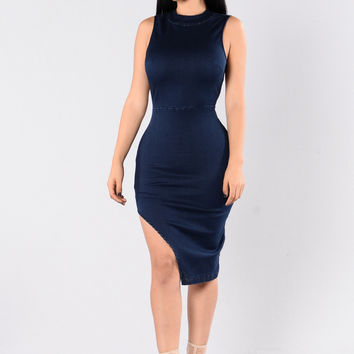 Hit Em Up Style Dress - Dark Denim