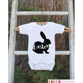Kids Easter Outfit - Easter Bunny Onepiece or Tshirt - Kids Easter Bunny Outfit - Sibling Easter Outfits - Boy or Girl Baby, Toddler, Youth