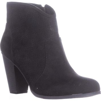 Style & Co. Aria Western Ankle Boots, Black, 8.5 US, Black, 8.5 US