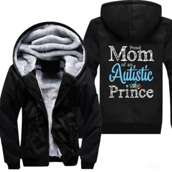PROUD MOM OF AN AUTISTIC PRINCE AUTISM DAY JACKET