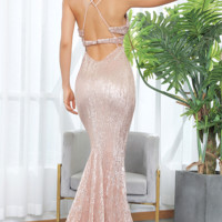 Daphne Sequin Luxe Gown