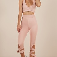 Born To Dance Tights in dusty pink Produced By SHOWPO