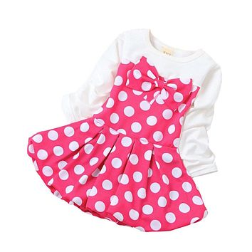 New Spring Summer Baby Dress Girl Dresses Polka Dot Girls Clothes Party Dress Princess Birthday Dress for Baby Girl