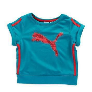puma girls 2 6x glitter accented graphic tee  number 2