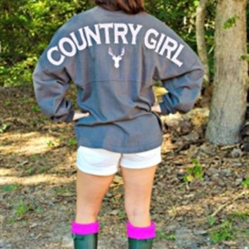 Country Girl Spirit Jersey Grey