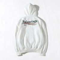 ONETOW 2017 balenciaga print hooded pullover tops sweater sweatshirts 2