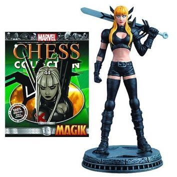 Marvel Magik White Pawn Chess Piece with Collector Magazine