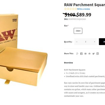 Raw Natural Parchment Paper