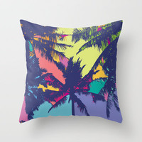 Palm tree Throw Pillow by PINT GRAPHICS