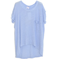 Wilt Boxy Short Sleeve Tee in Lavender | Les Pommettes