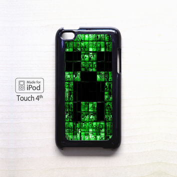 Creeper Minecraft Wall for apple case iPod 4/iPod 5