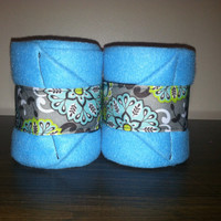 Sky Blue Paisley Polo Wraps