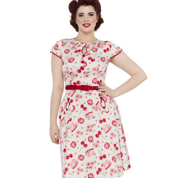 Hilda Cherry Basket Swing Dress