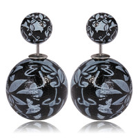 Gum Tee Mise en Style Tribal Earrings - Oriental Black
