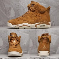 Air Jordan 6 Retro Wheat Golden Harvest/Elemental Gold AJ6 Sneakers - Best Deal Online