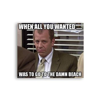 When all you wanted was to go to the damn beach Toby Flenderson Magnet - Michael Scott Magnet - The Office TV Show Magnet