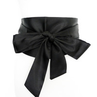 New Woman Belt Black 13cm Wide Satin Sash Wrap Tie Belts for Women Lady Cummerbund Fashion Wedding girdle 4 colors