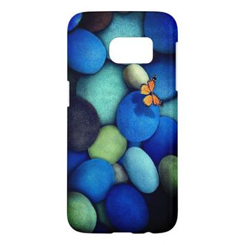 Blue green samsung S7 mobile case