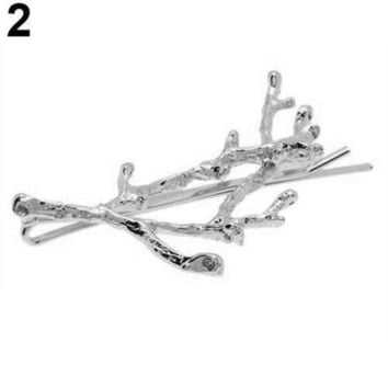 DCCKWJ7 1 Pc Vintage Women Girl Antler Deadwood Hairpin Bobby Pin Hair Clip Accessory