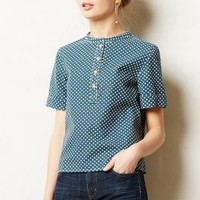 Buttoned Canvas Tee by Anthropologie