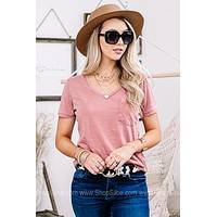 Dressed To Chill Pocket Top | Dusty Mauve