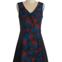ModCloth Mid-length Sleeveless A-line Mellifluous Music Dress