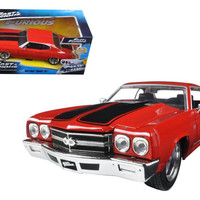 "Dom's Chevrolet Chevelle SS Red ""Fast & Furious"" Movie 1-24 Diecast Model Car by Jada"